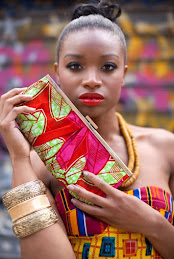 ankara attire, purse