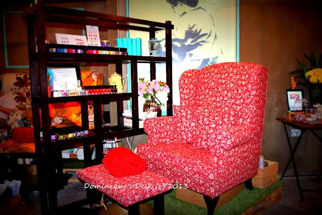 The comfy chair which customers get to sit on