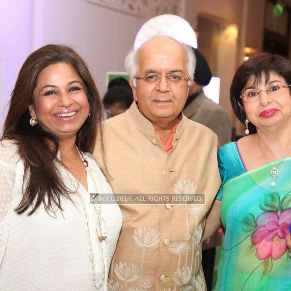 Vijay Rekhi and Zareen at the RNGM golf event that was held at the Mysore Hall at the ITC Gardenia, Bangalore.
