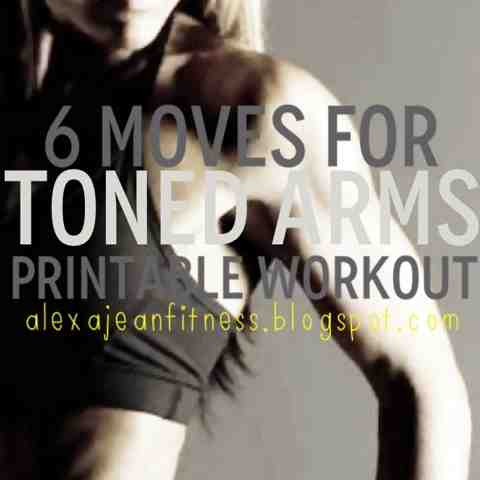 picture relating to Printable Arm Workouts called Alexa Jean: Toned Hands Inside 6 Moves - Printable Exercise