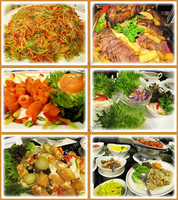 Buffet lunch dishes at Benteng Coffee House, Quality Hotel