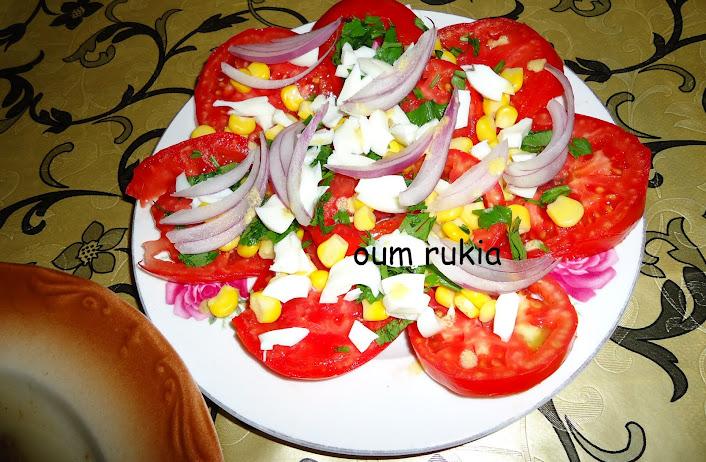 Peinture et cuisine de mia salade de tomates simple et d licieuse - Salade de tomates simple ...