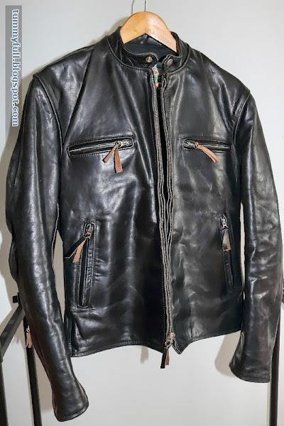 eat till tummy full: aero cafe racer horsehide leather jacket