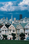 Sprachaufenthalt USA  - Postcard Row — Alamo Square