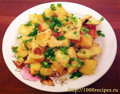 Картошка в рукаве, запеченная в духовке