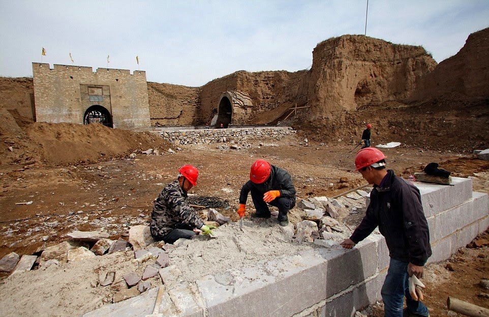 Military castle of Ming Dynasty under restoration in Hebei Province