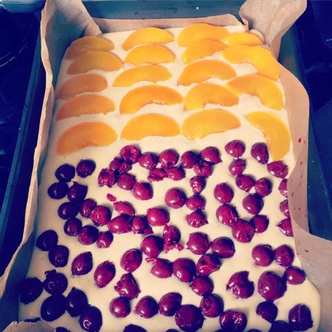 Lanisleckerecke Saure Sahne Obst Kuchen Vom Blech