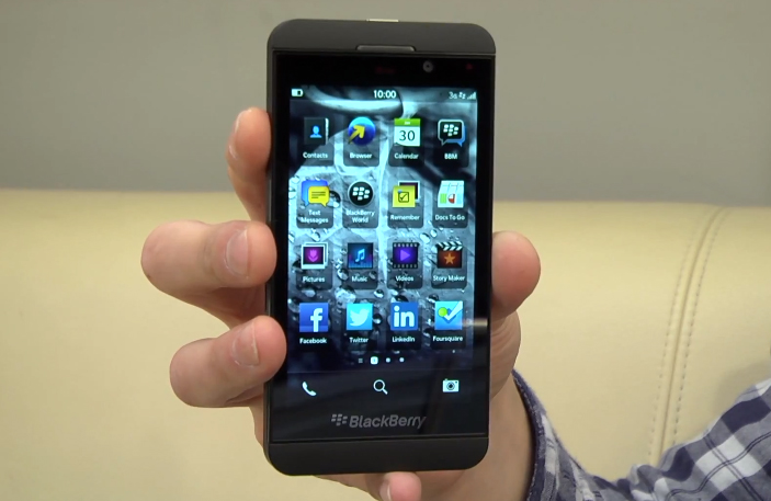 BlackBerry Z10 Touchscreen-based Smartphone Review Video   BlackBerry Z10  Review Video