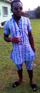 man, ankara shorts and shirts