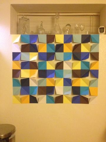 Peace It Back Together: DIY Folded Paper Pop Art Wall