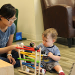 LePort Private School Irvine - Montessori daycare teacher with baby
