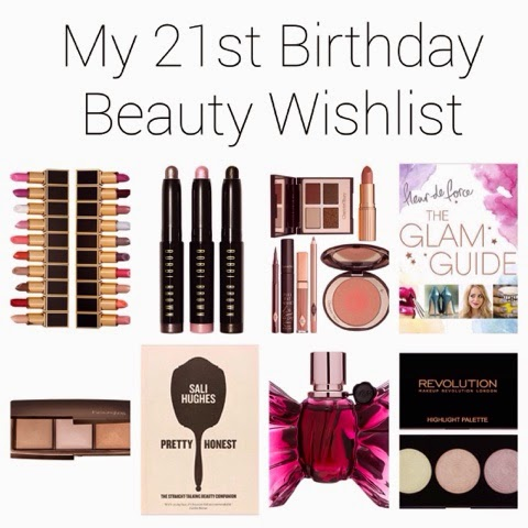 My 21st Birthday Beauty Wishlist
