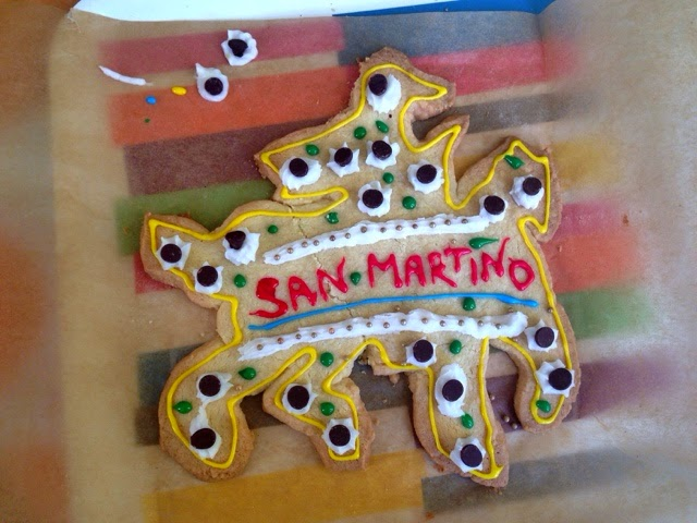 Venice tradition, the Dolce di San Martino, a cookie shaped like a knight on a horse