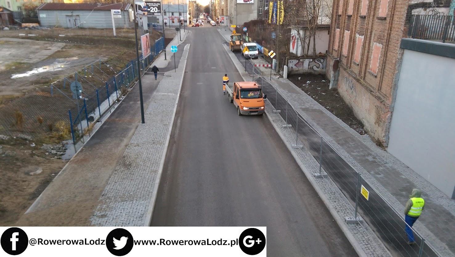 Ulica Tramwajowa w stronę Tuwima