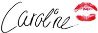 caroline, unterschrift, schreibschrift caroline, kussmund, caroline geschrieben, lippenstiftkussmund