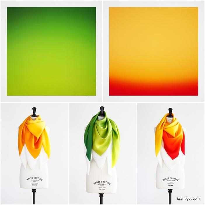 Hermès Editeur Scarves by Hiroshi Sugimoto