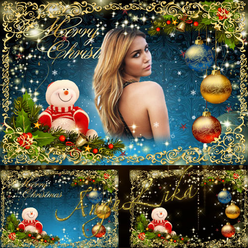 Festive Photoframe - Shine and Light of Christmas