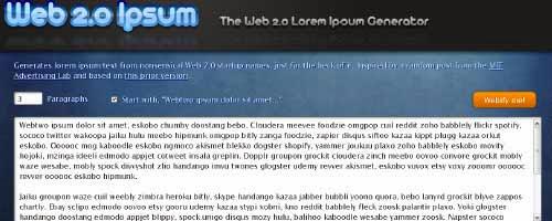 Web 2.0 Ipsum