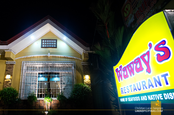 Bicolano Dinner at Waway's Restaurant in Legazpi City