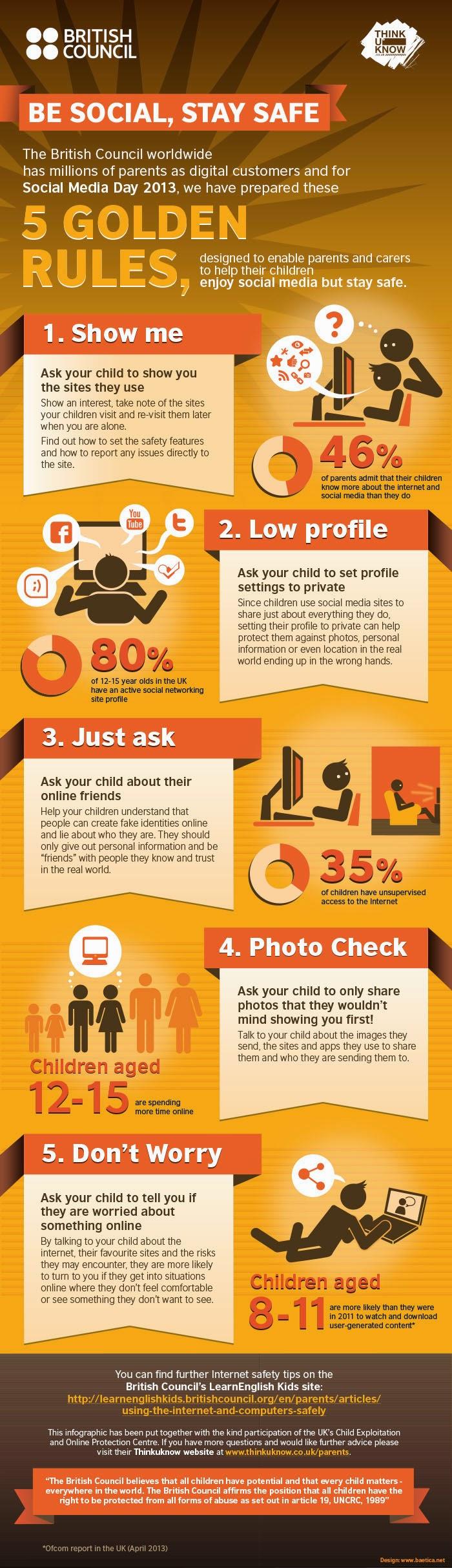 5 reglas de oro para mantener a tus hijos seguros en social media