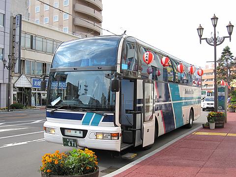 道北バス「サンライズ旭川釧路号」・671 釧路駅前にて