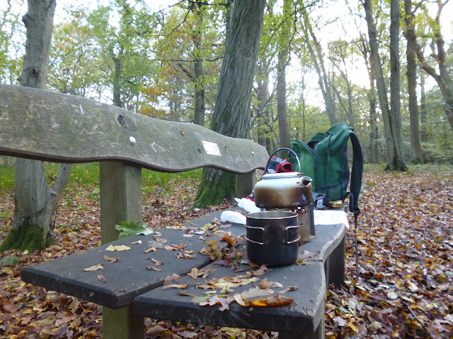Tea break in Wormley wood