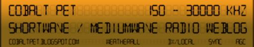cobalt pet shortwave / mediumwave weblog