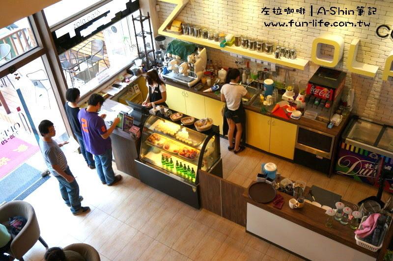 樓中樓設計,一樓一覽無遺阿-ZOLA左拉咖啡館