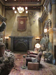 In the lobby of the Tower of Terror