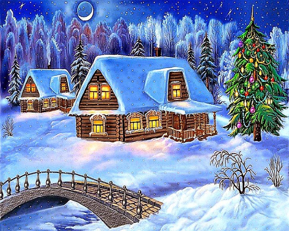 animated christmas desktop free wallpaper