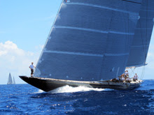 North Sails Ken Read- sailing J/Class HANUMAN at St Barths Bucket Regatta