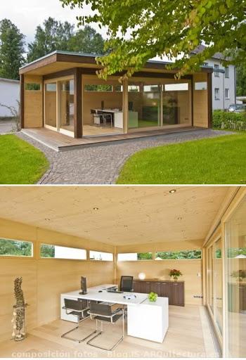 Oficina prefabricada de madera for Oficina prefabricada