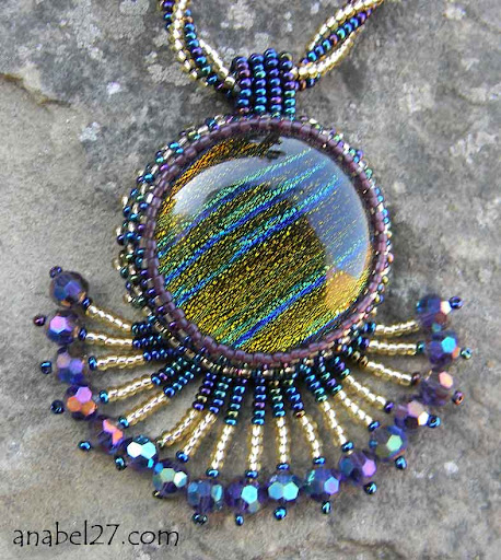 Кулон с дихроичным стеклом Anabel