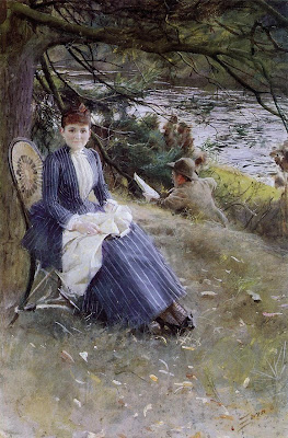 Anders Zorn - Mrs. Symons in Scotland