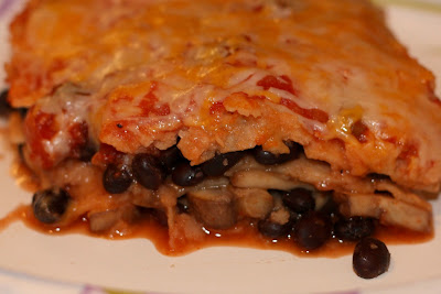 The Unoriginal Chef: Mushroom and Black Bean Tortilla Casserole