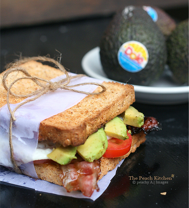 Avocado, Candied Bacon and  Fried Egg Sandwich