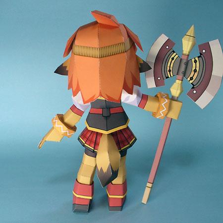 Class of Heroes 3D Dwarf Papercraft