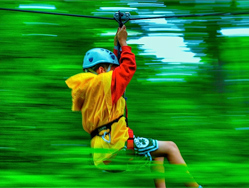 Zip line en los carpatos