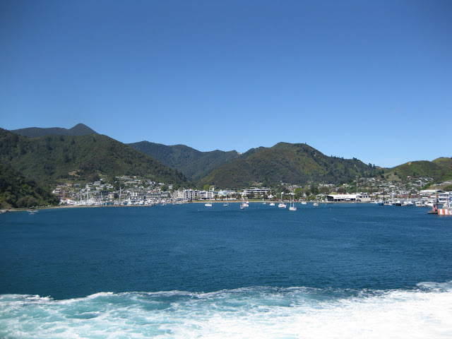 Arriving at Picton harbour, view from the Interislander ferry