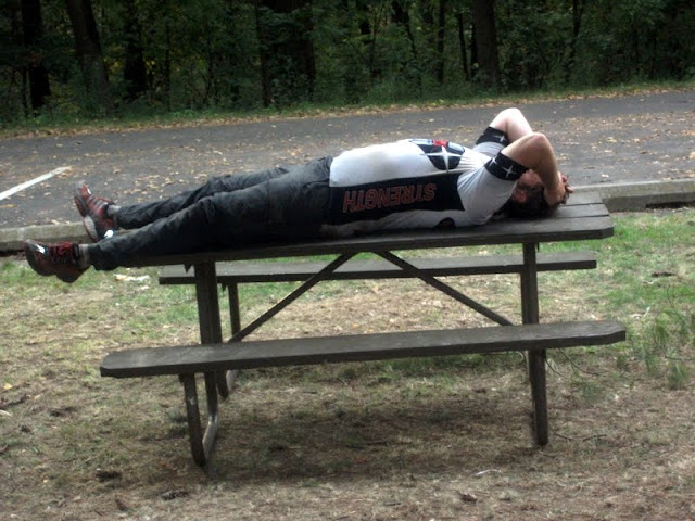 Nap on a picnic table at an AR