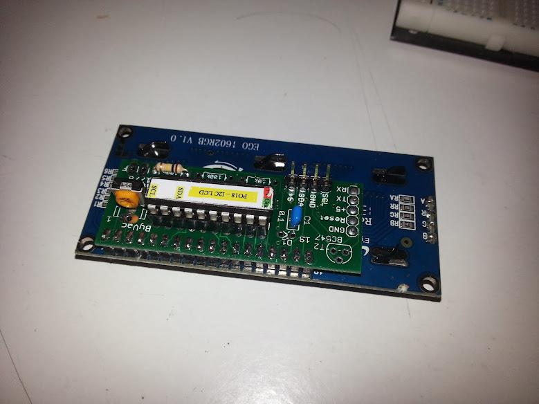 P018 I2C 16x2 LCD Arduino Code