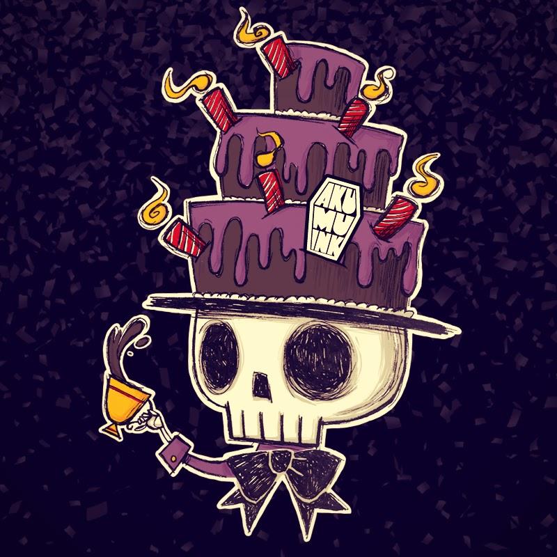 akumuink, birthday skull, skull artist, skull artwork, skull art, chibi skull, cute skull, skull fashion, japanese skull, japanese horror, cute horror, nightmare, akumu