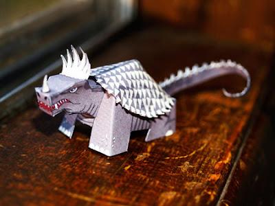 Kaiju Anguirus Paper Toy