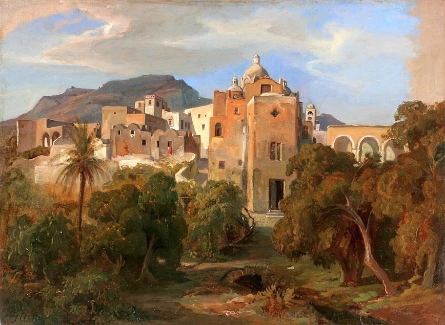 Johann Wilhelm Schirmer - Capri mit Blick auf Santa Serafina