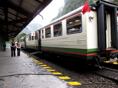 Inca Rail train in Machu Picchu Peru