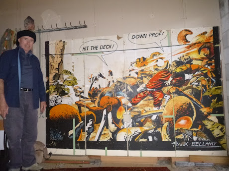 Evan Jenkins with his Colin Wilson Dan Dare mural