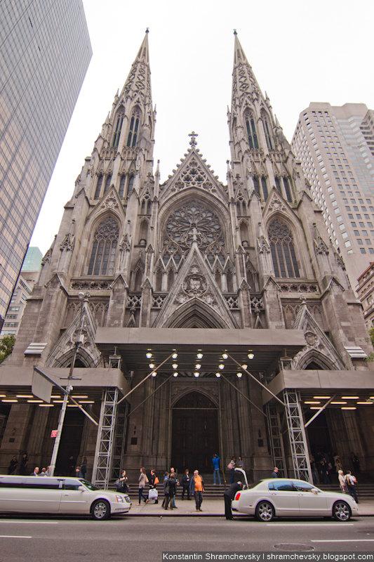 USA New York Manhattan Saint Patrick Cathedral США Нью Йорк Собор Святого Патрика