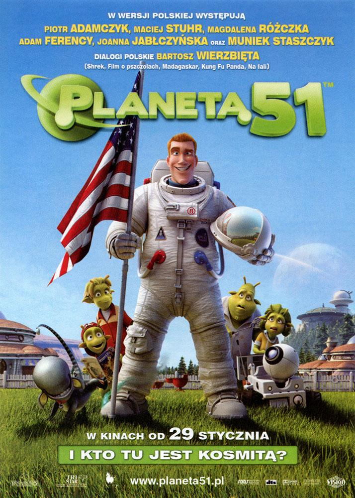 Ulotka filmu 'Planeta 51 (przód - wersja B)'