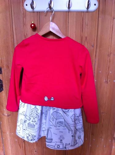 Gilet et robe rentrée scolaire