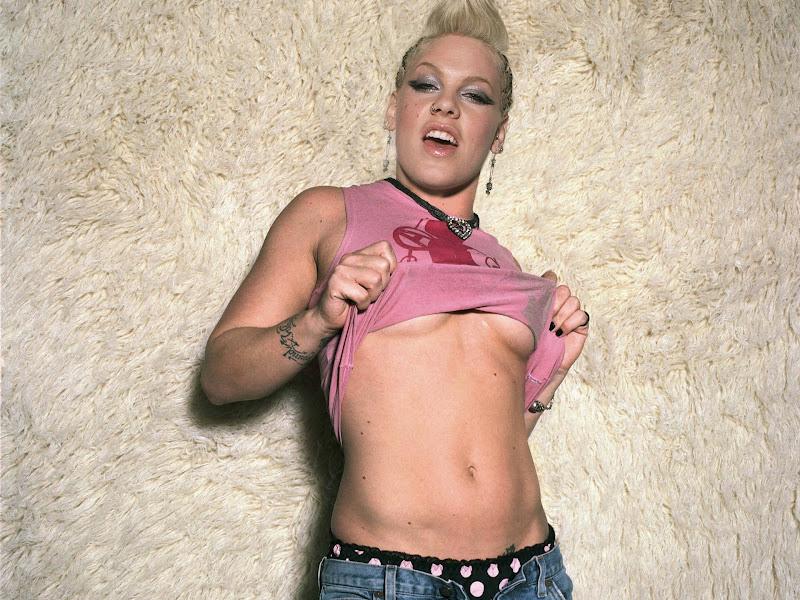 pink rock music singer underboobs pink singer 1920x1440 wallpaper